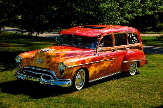 1950 Oldsmobile 88 Futuramic Rocket Wagon Tin Woody Woodie For Sale Oldsmobile