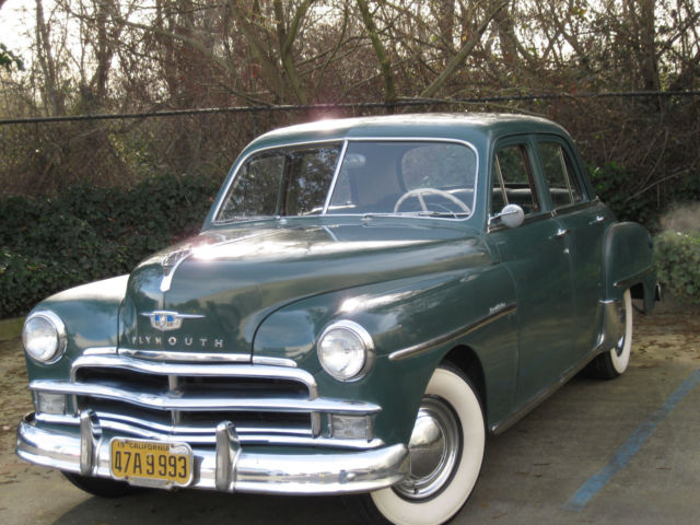 1950 plymouth special deluxe 4 door sedan dark green for for 1950 plymouth 4 door sedan