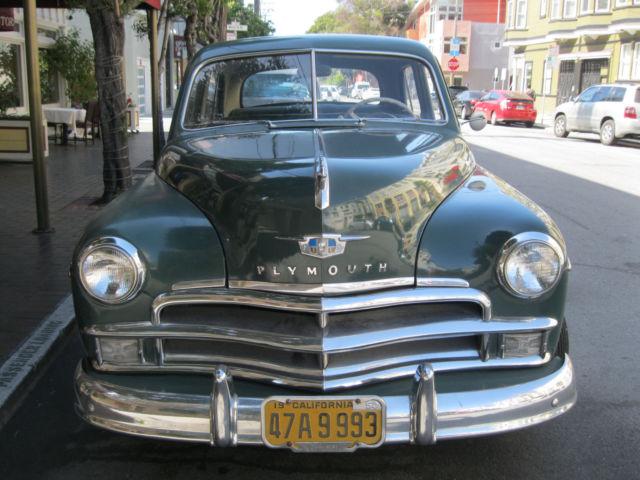 1950 Plymouth Special Deluxe 4 Door Sedan Dark Green for sale