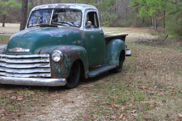 1951 Chevrolet 5 WINDOW 3100 slammed patina c10 hot rod rat