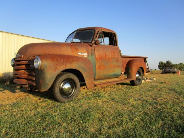 1951 chevy 3100 pickup no reserve all original oklahoma farm truck sat since 69 for sale. Black Bedroom Furniture Sets. Home Design Ideas