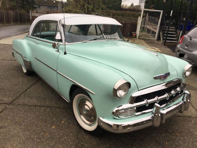 1952 2 door hardtop chevy deluxe bel air in surf green for 1952 chevy two door hardtop