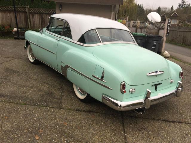 1952 2 door hardtop chevy deluxe bel air in surf green for 1952 chevrolet styleline deluxe 2 door sedan