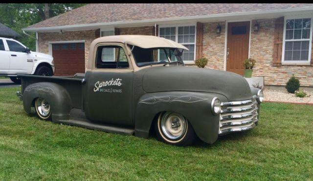1952 chevy 3100 air ride 350 rebuilt s10 frame 700r notched fulton visor 4 link for sale. Black Bedroom Furniture Sets. Home Design Ideas