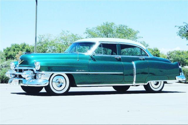 1953 cadillac deville sedan 32 442 miles green automatic for 1953 cadillac 4 door