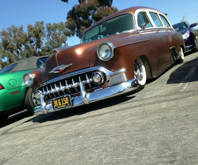 1953 Chevy Tin Woody Surf Wagon Hot Rod With Jaguar Rearend And Mustang II