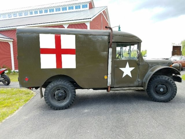 1953 dodge m43 power wagon military ambulance for sale for Motorized wagon for sale