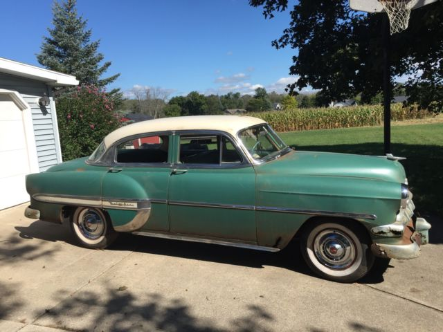 1954 chevrolet bel air base sedan 4 door automatic 6 for 1954 belair 4 door