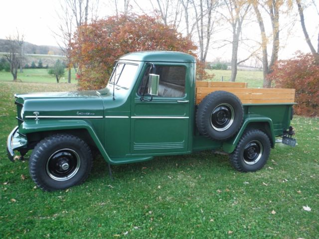 1954 willys 4 wheel drive pick up truck original restoration for sale willys 6 226 4wd 1954. Black Bedroom Furniture Sets. Home Design Ideas