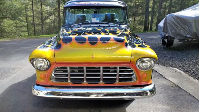 1955 chevrolet 1 2 ton short narrow box big back window for Narrow windows for sale