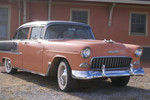 Coral and gray 55 chevy for sale autos post for 1955 chevy bel air four door