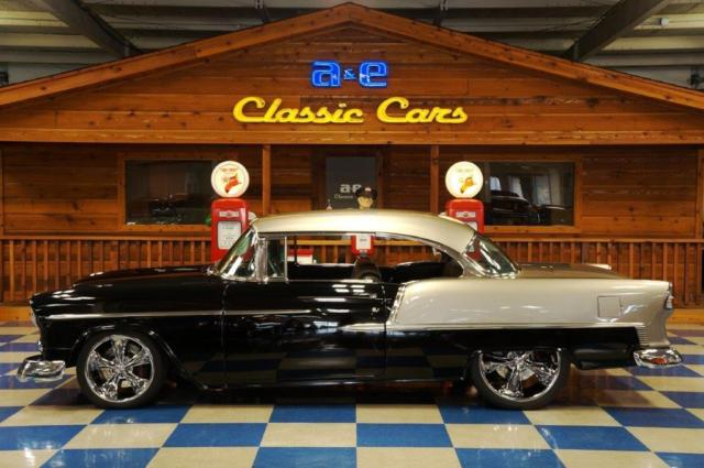 1955 Chevrolet Bel Air Pro Touring Black Silver For
