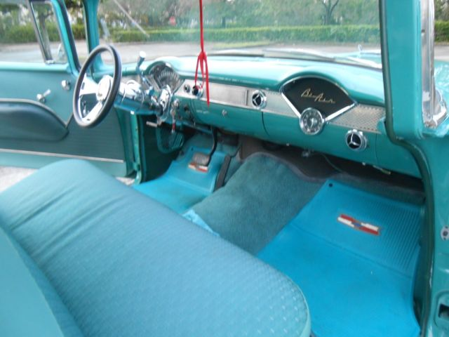 1955 Chevy 210 2 Door Post 283, 700 R4 transmission, 17 inch