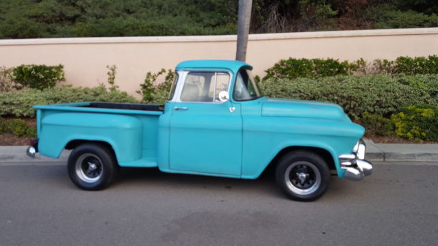 1955 chevy 3100 gmc 100 big window short bed pickup truck old school kool v8 for sale. Black Bedroom Furniture Sets. Home Design Ideas