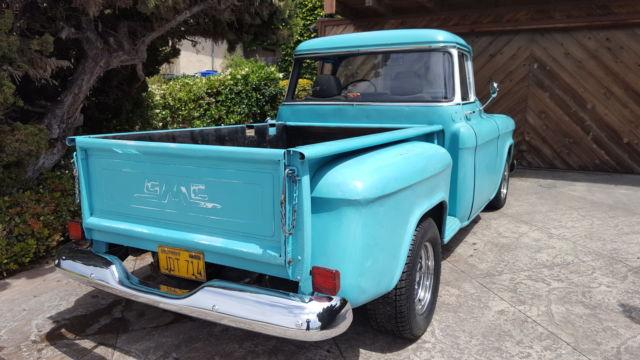 1955 chevy 3100 gmc 100 big window short bed pickup truck old school kool v8 for sale. Black Bedroom Furniture Sets. Home Design Ideas