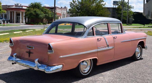 1955 chevy belair 4 door 6 cylinder 3 speed very solid for 1955 chevy 4 door sedan