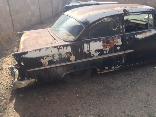 1955 chevy belair option sedan 2 door car with clean az title ready for restore for sale. Black Bedroom Furniture Sets. Home Design Ideas