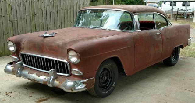 1955 chevy chevrolet 2 door hardtop bel air barn find for for 1955 chevrolet 2 door hardtop for sale
