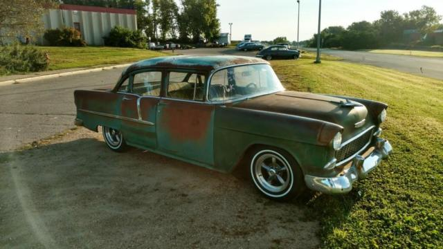 1955 chevy hot rod street rod rat rod patina 4 door for 1955 chevy bel air 4 door for sale