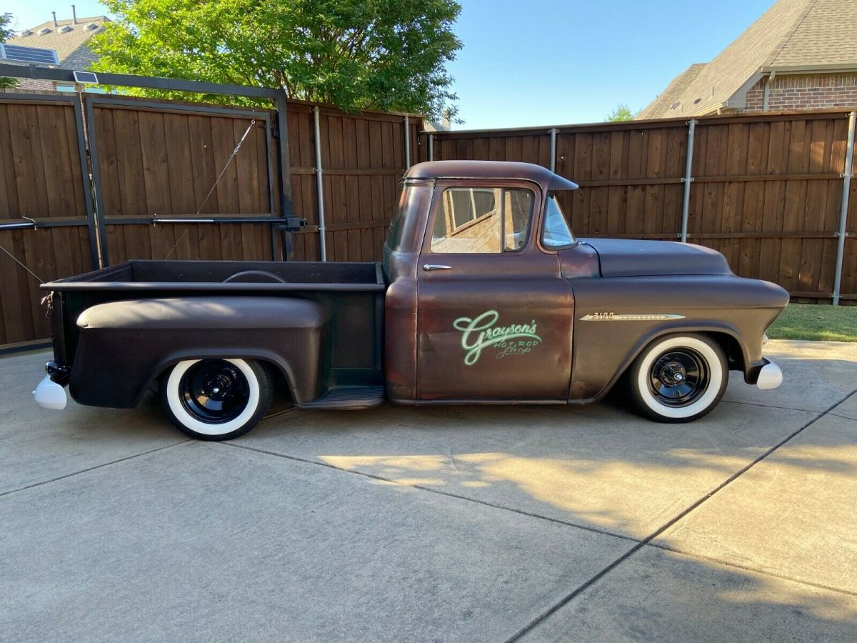 1955 Chevy Hot Rod Truck Air Ride Bagged Patina Lowered Slammed For Sale Chevrolet Other Pickups 1955 For Sale In Allen Texas United States