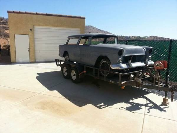 1955 Chevrolet Nomad Unrestored Project Car For Sale: 1955 Chevy Nomad Belair For Sale