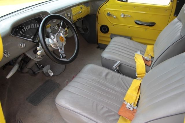 1955 Chevy Panel Truck Yellow W Orange Flames For Sale