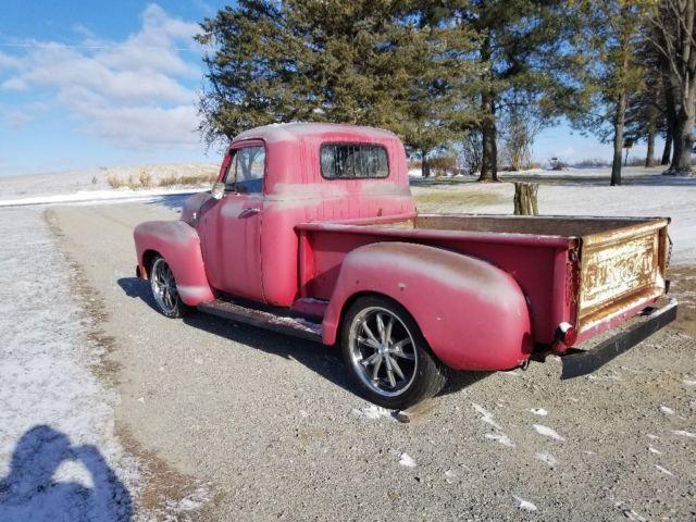 1955 chevy truck short box rat rod patina shop truck project no reserve for sale. Black Bedroom Furniture Sets. Home Design Ideas