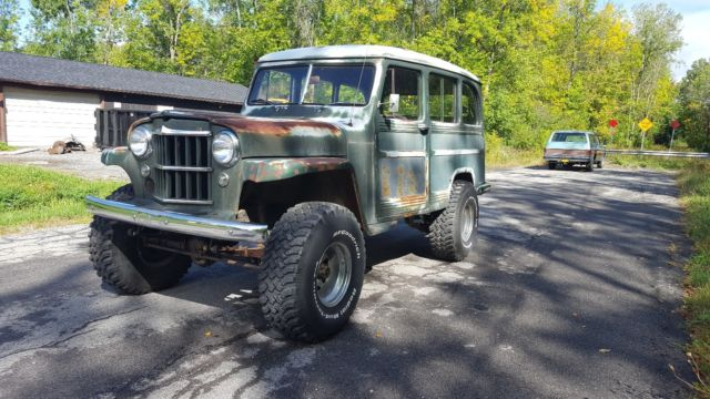 1955 willys wagon 4x4 v8 california rat rod hot rod lifted custom overdrive for sale jeep. Black Bedroom Furniture Sets. Home Design Ideas