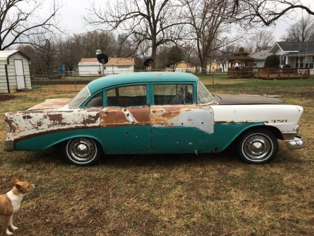 1956 chevrolet 210 4 door post runs and drives needs some for 1956 chevy 4 door for sale