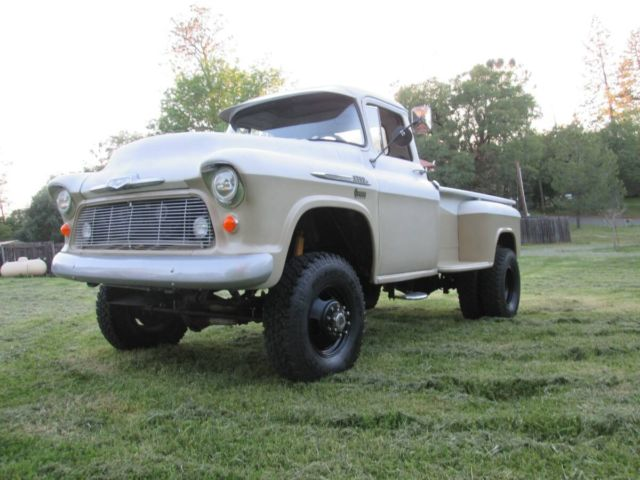 1956 chevrolet 4x4 stepside dually cummins turbo diesel pickup for sale chevrolet other. Black Bedroom Furniture Sets. Home Design Ideas