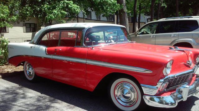 1956 Chevrolet Bel Air Sports Sedan 4 Door Hard Top V8 For Sale
