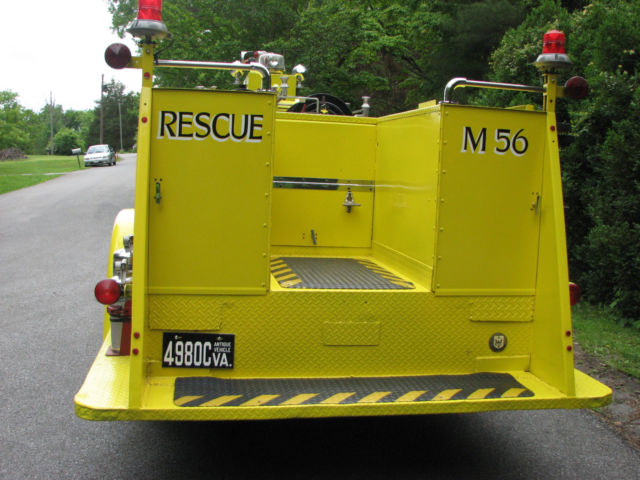 1956 Chevrolet Fire Truck Fully Restored From NYS Thruway for sale
