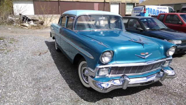 1956 chevy 4 door belair for sale chevrolet bel air 150 for 1956 chevy 4 door