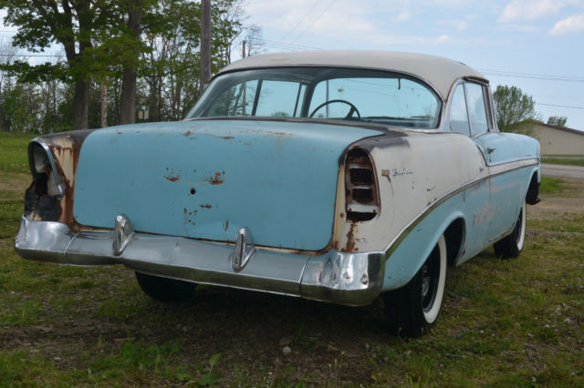 202538 1956 Chevy Bel Air 2 Door Hardtop Project Car From Midwest on solid fuel york