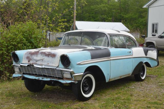 1956 chevy bel air 2 door hardtop project car from midwest for 1956 chevy 2 door hardtop for sale