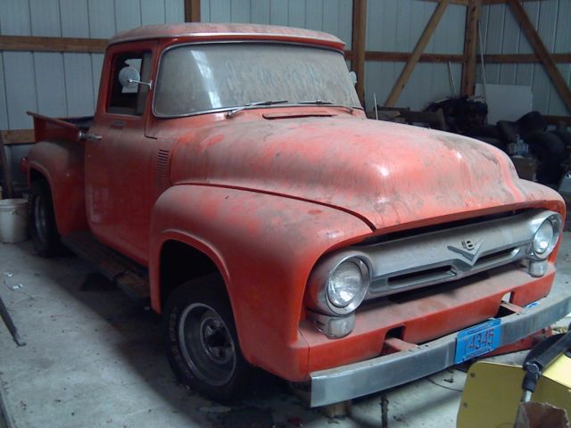 1956 f 100 project truck from arizona for sale ford f 100 custom 1956 for sale in hartford. Black Bedroom Furniture Sets. Home Design Ideas