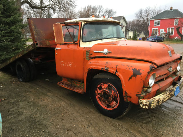 1956 Ford Tractor : Ford case tractor machinery delivery rollback tiltbed