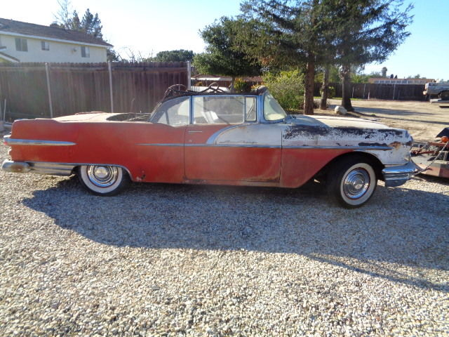 1956 pontiac starcheif convertible restoration project for sale pontiac starcheif catalina. Black Bedroom Furniture Sets. Home Design Ideas