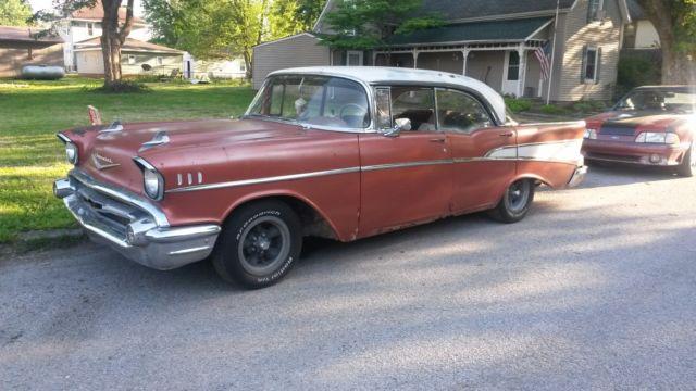 1957 chevrolet bel air 4 door hard top running project for 1957 chevy 4 door car for sale