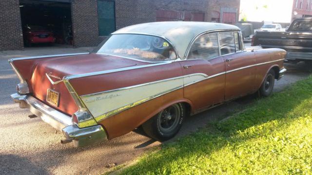 1957 chevrolet bel air 4 door hard top running project for 1957 belair 4 door hardtop