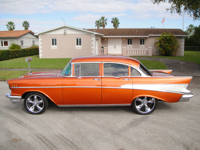 1957 chevrolet bel air base sedan 4 door for sale for 1957 chevy 4 door sedan