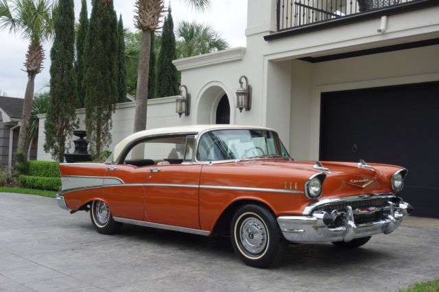 1957 chevrolet bel air  sport hardtop  ice cold ac  283 v8