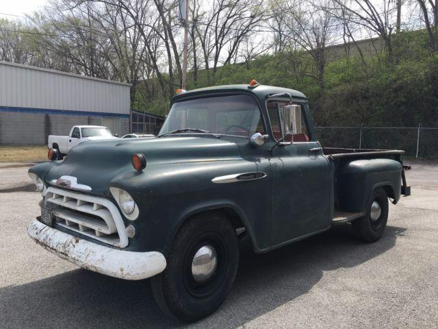 1957 chevrolet big window pickup truck survivor big 6 cyl 4 speed solid for sale chevrolet. Black Bedroom Furniture Sets. Home Design Ideas