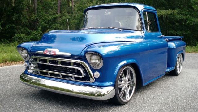 1957 chevrolet custom classic truck pick up full restore everyday driver v8 auto for sale. Black Bedroom Furniture Sets. Home Design Ideas