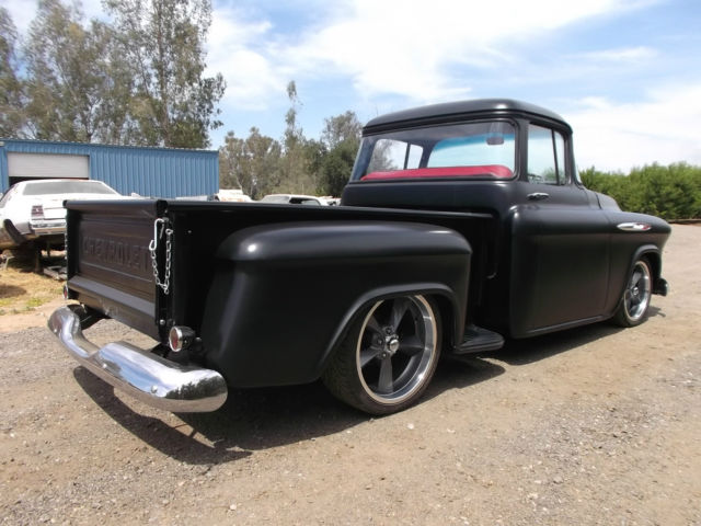 1957 chevrolet truck 3100 big window short bed hot rod