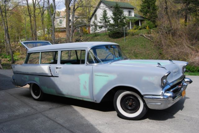 1957 chevy 150 handyman 2 door station wagon california rust free orig paint for sale. Black Bedroom Furniture Sets. Home Design Ideas