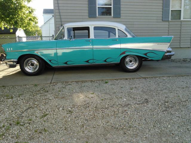 1957 Chevy 210 4 Door Sedan Mild Custom For Sale Chevrolet Bel Air 150 210 1957 For Sale In Springfield Illinois United States