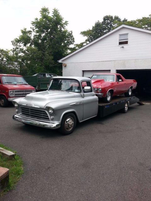 454 Ss Truck For Sale >> 1957 Chevy 3800 Series Car Hauler for sale - Chevrolet ...