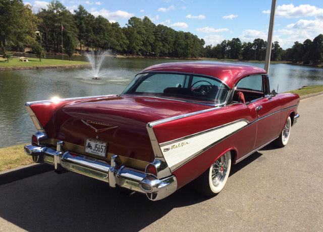 1957 chevy bel air 2 door hardtop red for sale chevrolet for 1957 belair 2 door