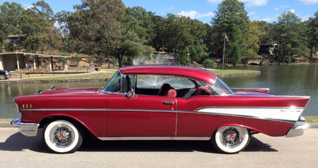 1957 Chevy Bel Air 2 Door Hardtop Red For Sale Chevrolet